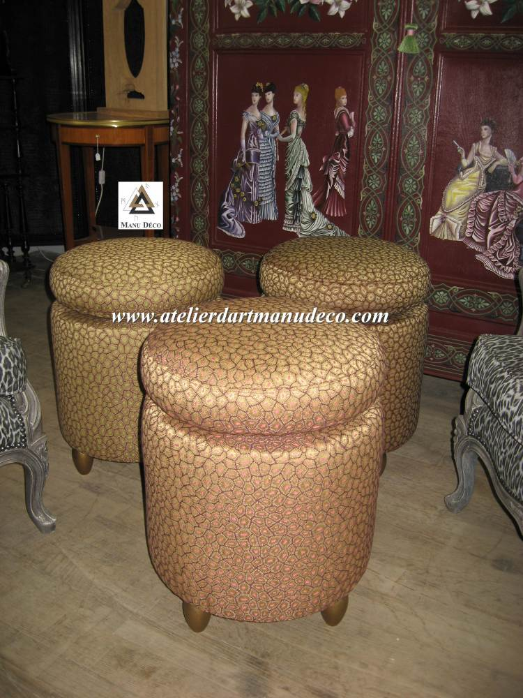 cr ation poufs. Black Bedroom Furniture Sets. Home Design Ideas