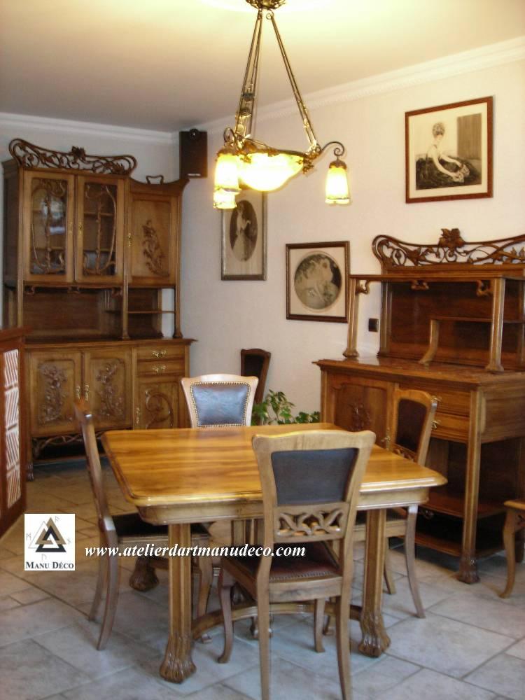 Restauration d 39 une salle manger art nouveau for Salle a manger art deco