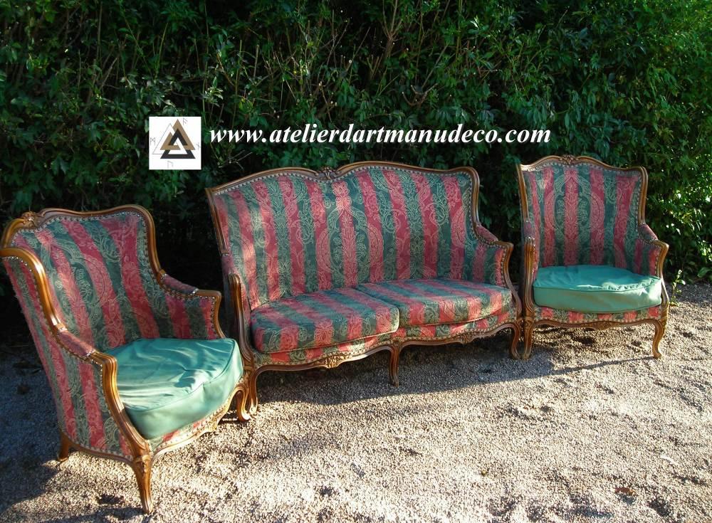 Manu d co ma tre b niste d 39 art restaurateur de meubles anciens tapissier ni vre en bourgogne - Salon louis xv ...