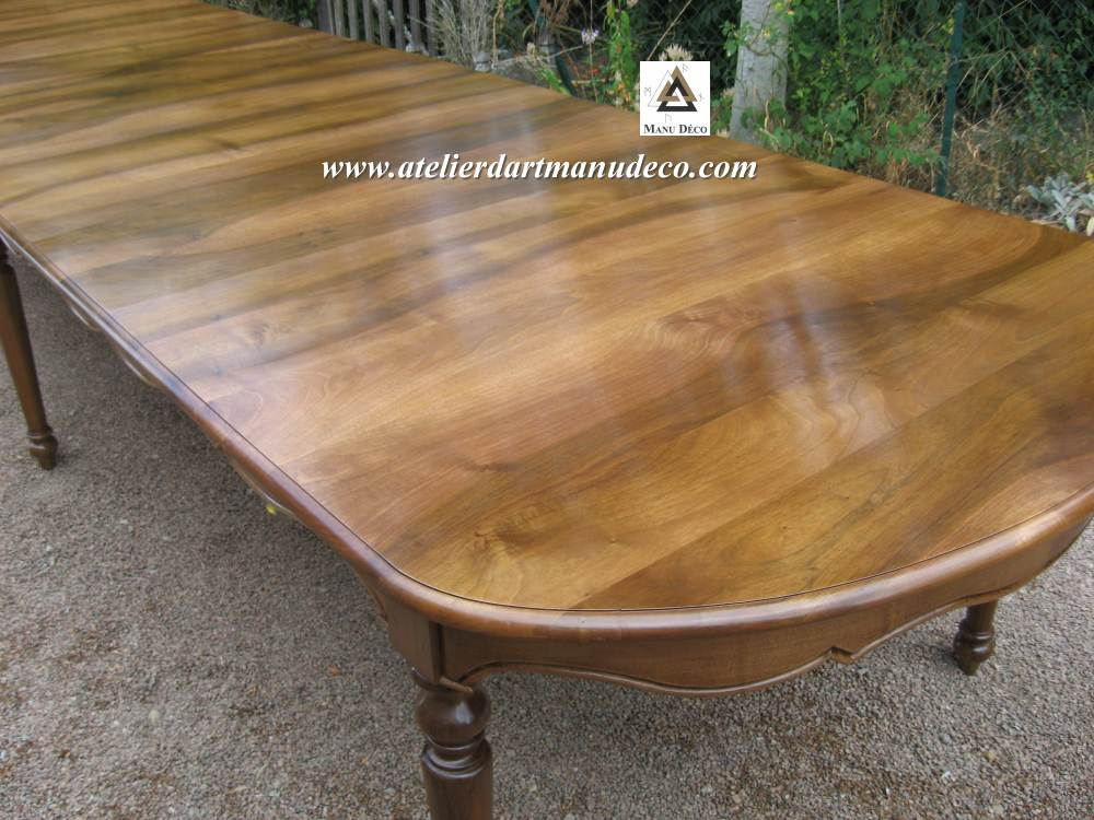 Table sur mesure for Table de salle a manger sur mesure